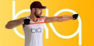biqbandtraining archer pulls with resistance band